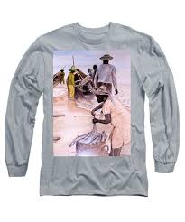 The big catch Long Sleeve T-Shirt for Sale by Byron Bailey