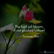 the bud will bloom if n quotes writings by saranya nair