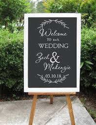 Personalized Welcome Sign Decal For Wedding Welcome To Our Wedding Decor Prop Custom Vinyl Art Stickers Diy Murals Home Decor Buy At The Price Of 3 65 In Aliexpress Com Imall Com