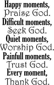 vwaq happy moments praise god christian quotes wall decal h x