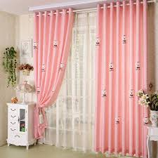 Happy Time Pink Cute Bear Kids Room Curtains