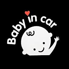 Amazon Com Aaron White Baby In Car Baby Safety Sign Car Sticker Car Decal Sticker 1 Pack Girl Automotive