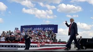 2020 DNC: Trump counters Biden's nomination with Oshkosh rally