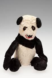 Panda - Ada Perry, Black & White Plush, circa 1930s-1960s
