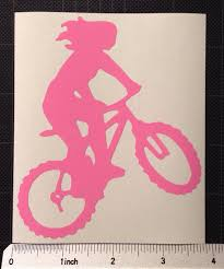 Mountain Biking Woman Vinyl Decal Girl Mtn Biking Mtb Free Etsy