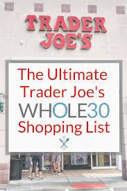 trader joe s whole30 ping list