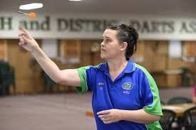 Maryborough Masters Games - darts. Adele Russell. | Buy Photos Online |  Northern Star