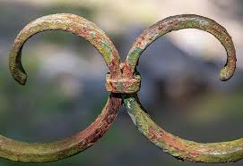Metal Ornament Rusty Weathered Detail Craft Fence Art Decorative Iron Spall Pikist
