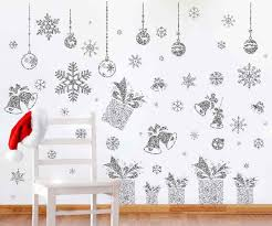 Amazon Com Joyin 80 Pcs Glitter Snowflakes Window Wall Peel Stick Decals Holiday Winter Christmas Home Decorations Snow White Stickers Also Including Jingle Bell Gift Box Ornaments Designs Toys Games