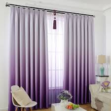 Window Curtain For Kids Bedroom Solid Color Gradient Blackout Curtains Purple Window Screening Modern Style Children Curtains Curtain Picture Window Curtains Lowescurtains For Door Windows Aliexpress