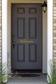 Amazon Com Welcome Home Front Door Vinyl Decal Sticker Gold Computers Accessories