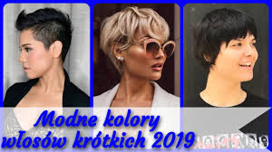 Top 20 Modne Kolory Wlosow Krotkich 2019 Youtube