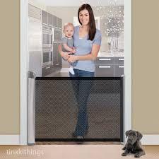 Retractable Safety Baby Pet Gate Indoor Dog Barrier Door Way Home Room Divider For Sale Online