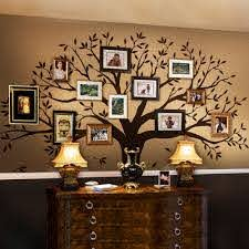 Amazon Com Simple Shapes Family Tree Wall Decal By Simple Shapes Chestnut Brown Standard Size 107 W X 90 H Home Improvement