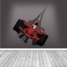 Full Colour F1 Racing Car Wall Art Sticker Decal Mural Boys Bedroom Transfer Wsd220 Tap28yxmr