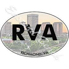 Rva Richmond Virginia Vinyl Decal Sticker Bumper Or Window Decal White Collectibles Transportation