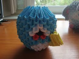 3D origami blue angry bird (Có hình ảnh)