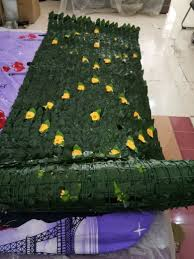 Artificial Ivy Leaf Fence With Flowers At Rs 1500 Roll Garden Fencing Id 14984899188