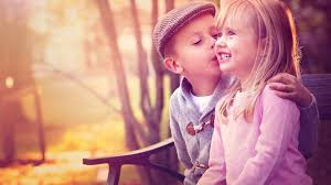 cute baby couple kissing 1920x1080