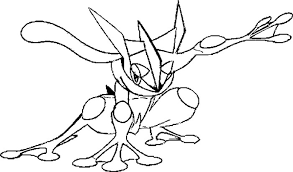 Pokemon Frogadier Coloring Pages