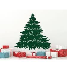 Christmas Tree Wall Decal Silhouette Vinyl Decor Wall Decal Customvinyldecor Com