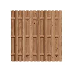 Outdoor Essentials 6 Ft X 6 Ft Pressure Treated Cedar Tone Wood Moulded Multi Style Fence Panel 204977 Outdoor Essentials Decorative Fence Panels