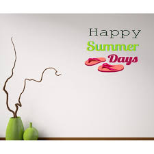 Happy Summer Days Sandals Quote Wall Decal Vinyl Decal Car Decal Idcolor020 25 Inches Walmart Com Walmart Com