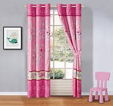 Amazon Com Kids Zone Home Linen 2 Panel Curtain Set With Grommet For Boys Girls Teens Bedroom Multicolor Set Butterfly Flowers Pink Blue Green New Kitchen Dining