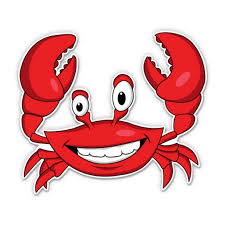 Happy Crab 3 Vinyl Sticker For Car Laptop I Pad Phone Helmet Hard Hat Waterproof Decal Walmart Com Walmart Com