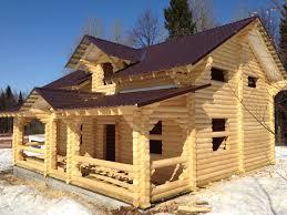 Дома из оцилиндрованного бревна Пермь под ключ проекты цены фото