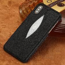 luxury genuine stingray leather phone