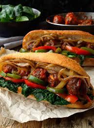 vegan meatball sub cilantro and