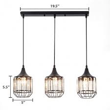 kitchen pendant lights black 3 lights