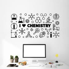 I Love Chemistry Wall Decal Lettering Lab School Science Laboratory Student Bedroom Interior Decor Vinyl Wall Sticker Mural M322 Wall Stickers Aliexpress