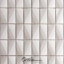luxurious white diamond shape marble