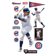 Javier Baez Chicago Cubs Fathead 13 Pack Life Size Removable Wall Decal Walmart Com Walmart Com