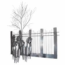 Williston Forge People With Umbrella Overlooking The Fence Wall Decor Reviews Wayfair