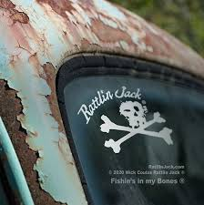 Skull Crossbones 5 Window Decal Sticker Rattlin Jack