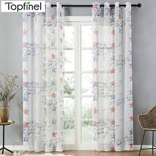 Topfinel Brand New Children Curtains Blue Red Stars Curtains For Kids Baby Room Curtains Tulle For Window Sheer Curtains Curtains For Star Curtaincurtains For Kids Aliexpress