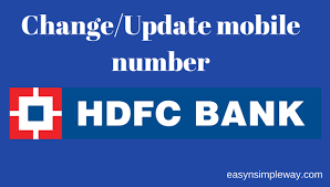 update mobile number in hdfc bank account