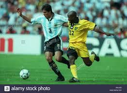 JOSE CHAMOT & PAUL HALL ARGENTINA V JAMAICA 25 June 1998 Stock Photo - Alamy