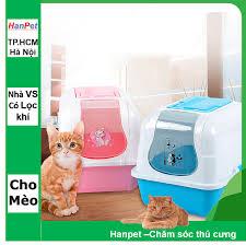 Nhà vệ sinh mèo kitty có kèm lọc khí (Màu ngẫu nhiên) + Xẻng ...