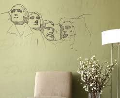 Amazon Com Mount Rushmore Wall Decal Detailed National Memorial American Patriotic Mountain Realistic Life Like Vinyl Art Sticker Large Decoration Sign Decor Mural Graphic Home Kitchen