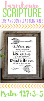 Psalm 127 Bible Verse Wall Art Scripture Art Print Arrows Poster Instant Download Printable Quote T Scripture Art Print Bible Verse Wall Art Psalm 127