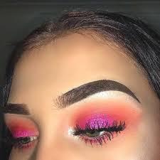 neon pink eye makeup look ecemella