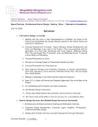 interior design contract template pdf