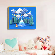 Cassisy Canvas Painting Jungle Camping Campfire Three Dimensional Poster Picture Wall Decor Modern Home Decoration For Kids Room Painting Calligraphy Aliexpress