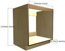 built in oven base cabinet