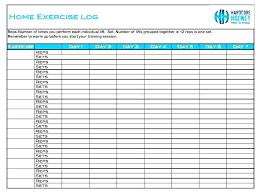 free printable workout log sheets 2