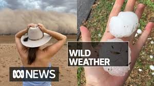 Giant hail hits Melbourne while dust ...